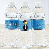 Personalized Water Bottle Labels - First Communion Boy - 15401