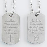 Personalized Religious Dog Tag Set - Confirmation - 15411
