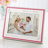 Engraved Pink Border Frame - Forever & Always - 15457