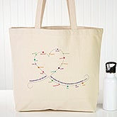 Personalized Canvas Tote - Grandchildren Connect The Dots - 15474