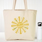 Personalized Canvas Tote - You Are My Sunshine - 15477