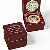 Personalized Navigator Clock and Compass - Inspiring Message - 15492
