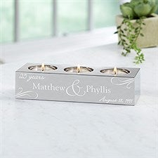 Personalized Anniversary Tea Light Candle Holder - 15498