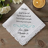 Personalized Wedding Handkerchief - Joyful Tears - 15504