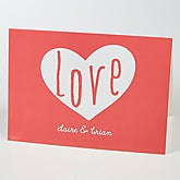 Personalized Greeting Card - Heart Full Of Love - 15516