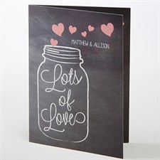 Personalized Greeting Card - Lots of Love - 15517