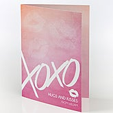 Personalized Greeting Card - Kisses For You - 15521