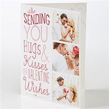Personalized Photo Greeting Card - Hugs & Kisses - 15523
