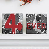 Personalized Romantic Shelf Blocks - 4-Ever - 15529