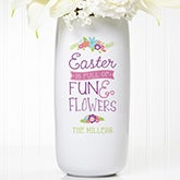 Personalized Easter Vase - Easter Fun & Flowers - 15538