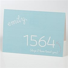 Personalized Romantic Greeting Card - Count The Days - 15539