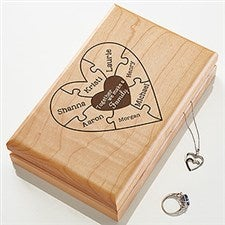 Personalized Jewelry Box - Together We Make A Family - 15540
