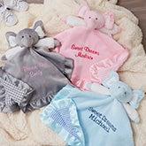 Personalized Elephant Baby Blankie - 15549