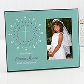 Personalized First Communion Photo Frame - God Bless - 15554