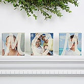 Personalized Photo Shelf Blocks Set Of 3 - MOM - 15566
