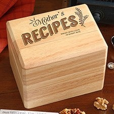 Personalized Recipe Box - Her Recipes - 15570