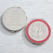Engraved Pink Compact Mirror - Enchanting Mother - 15579