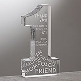 Personalized Keepsake Award - #1 Mom - 15580
