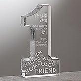 Personalized Keepsake Award - #1 Mom - 15580