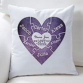 Personalized Throw Pillow - We Love You To Pieces - 15581