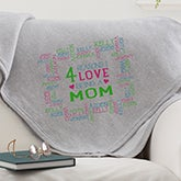 Personalized Sweatshirt Blanket - Reasons Why - 15585