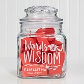Personalized Words of Wisdom Graduation Jar - Graduation Wishes & Memories - 15588