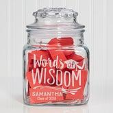 Personalized Words of Wisdom Graduation Jar - 15588