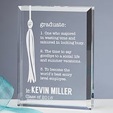Personalized Graduation Keepsake - Definition of a Graduate - 15589