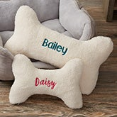Personalized Dog Bone Pet Pillow - 15594