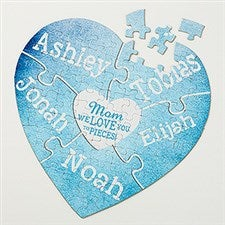 Personalized Heart Puzzle - We Love You To Pieces - 15640