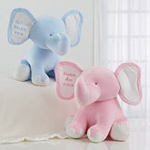 Embroidered Jumbo Plush Baby Elephant - 15643