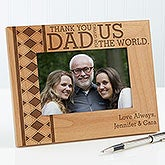 Personalized Father's Day Wood Picture Frame - Thank You Dad - 15645