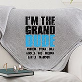 Personalized Sweatshirt Blanket - Granddude - 15657