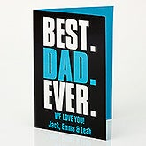 Personalized Father's Day Gift Card - Best. Dad. Ever. - 15660
