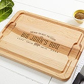 Personalized Maple Cutting Board - The Man, The Meat, The Legend - 15665