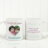 Personalized Photo Coffee Mug - Hugs & Kisses For Dad - 15678