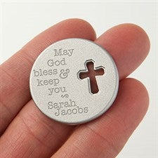 Personalized Cross Pocket Token - Blessing - 15685