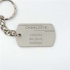 Personalized Dog Tag Keychain - Inspirational Quotes - 15693