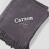 Embroidered Name Lap Of Luxury Throw Blanket - 15695