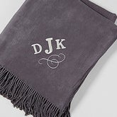 Embroidered Monogram Lap Of Luxury Throw Blanket - 15697