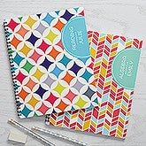Personalized Large Subject Notebooks Set of 2 - Geometric Subjects - 15701
