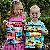 Personalized First Day Of School Dry Erase Sign - 15724