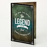 Personalized Father's Day Greeting Card - The Man, The Myth, The Legend - 15725
