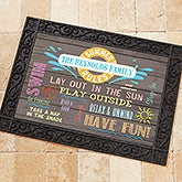 Personalized Summer Doormats - Summer Rules - 15735