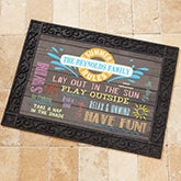 Personalized Summer Doormat - Summer Rules - 15735