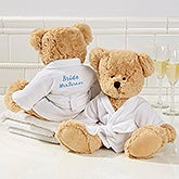 Personalized Spa Robe Teddy Bear - Wedding - 15739