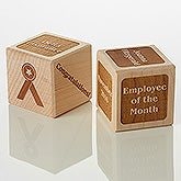 Personalized Wood Block - Employee Achievement - 15740D
