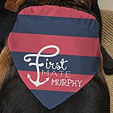Personalized Nautical  Dog Bandana - First Mate - 15748