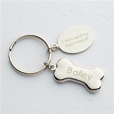 Personalized Dog Keychain - Dog Bone - 15753