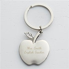 Personalized Apple Key Chain - Teacher - 15754